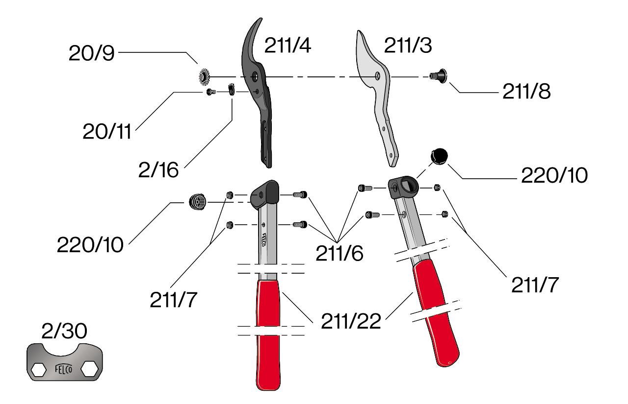 Felco 211-40 Parts