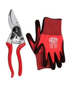 Felco 14 Small Bypass Pruner with free small Gloves
